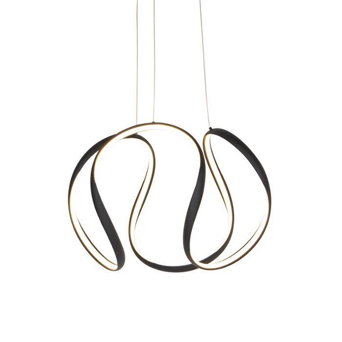 Lámpara-colgante-diseño-negra-regulable-LED---ROWANA