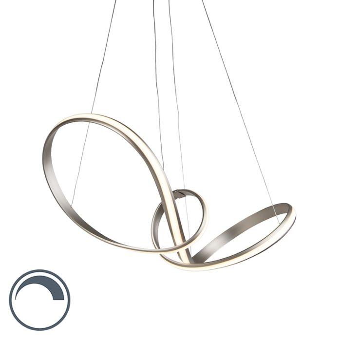 Lámpara-colgante-moderna-acero-80cm-regulador-LED---BELINDA