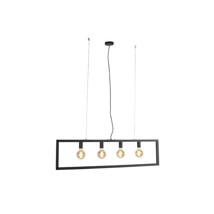 Lámpara-colgante-moderna-negra-4-luces---SIMPLE-CAGE-2
