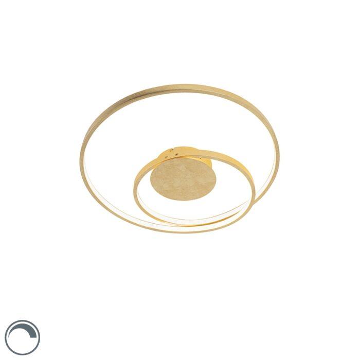 Plafón-Art-Dèco-dorado-regulable-LED---ROWAN