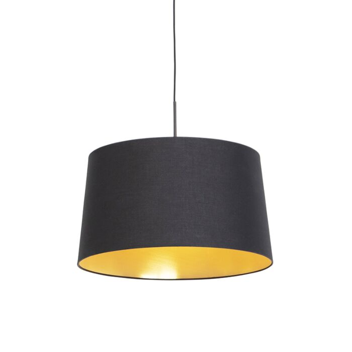Lámpara-colgante-pantalla-negro-oro-50cm---COMBI