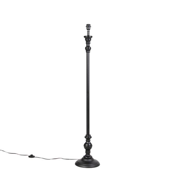 Lámpara-de-pie-clásica-negra-sin-pantalla---CLASSICO