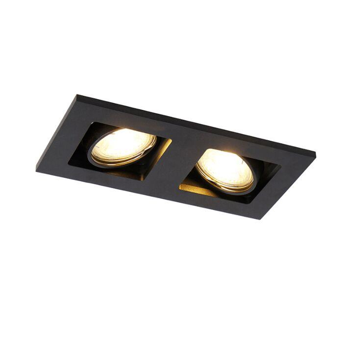 Foco-empotrado-negro-rectangular-2-luces---QURE