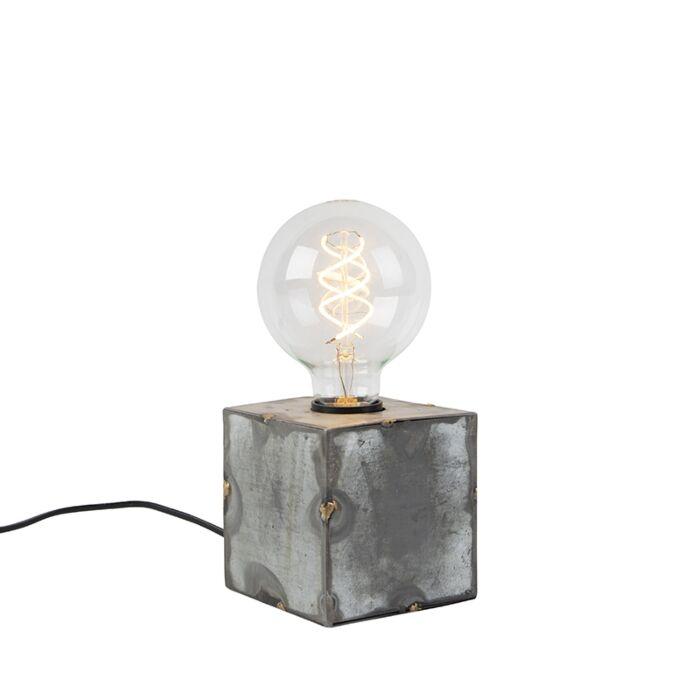Lámpara-de-mesa-industrial-gris---SAMIA
