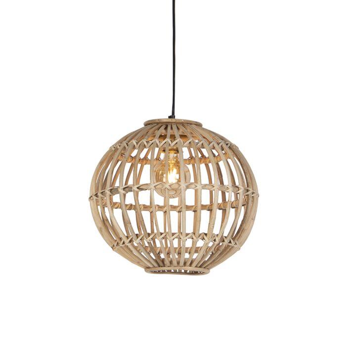 Lámpara-colgante-rústica-bambú-natural---CANE-BALL-40