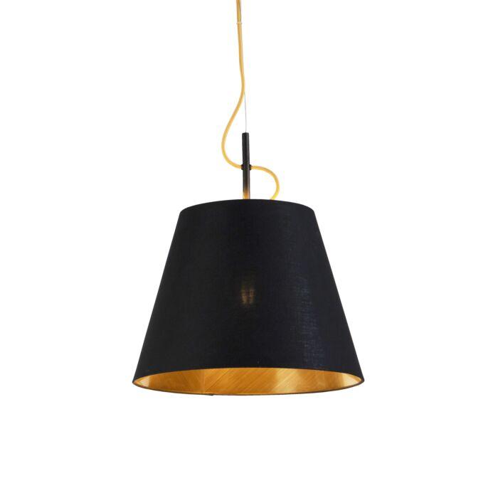 Lámpara-colgante-moderna-negra-oro---ANDRIE