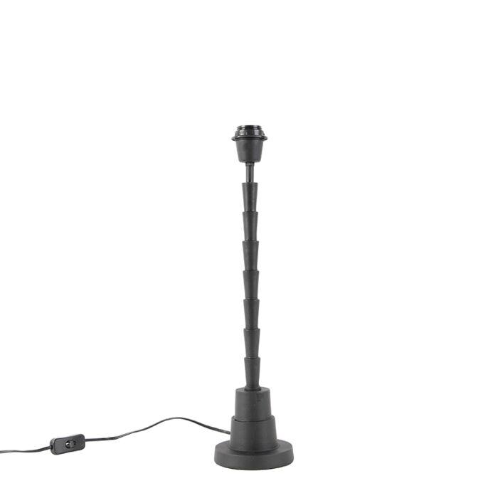 Lámpara-de-mesa-negra-sin-pantalla---PISOS