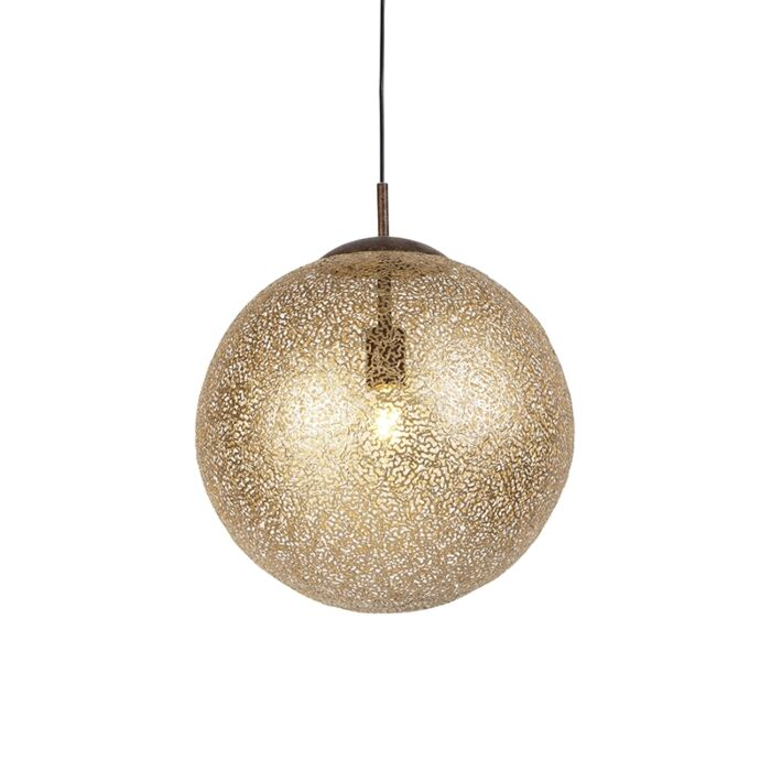 Lámpara-colgante-rústica-oxidado-40cm---KRETA