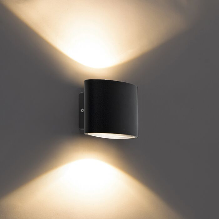 Aplique-de-pared-moderno-negro-LED-IP44---OVUM