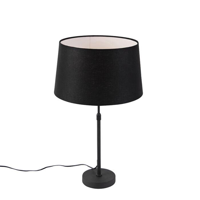 Sobremesa-negro-con-pantalla-de-lino-negro-35-cm-ajustable---Parte