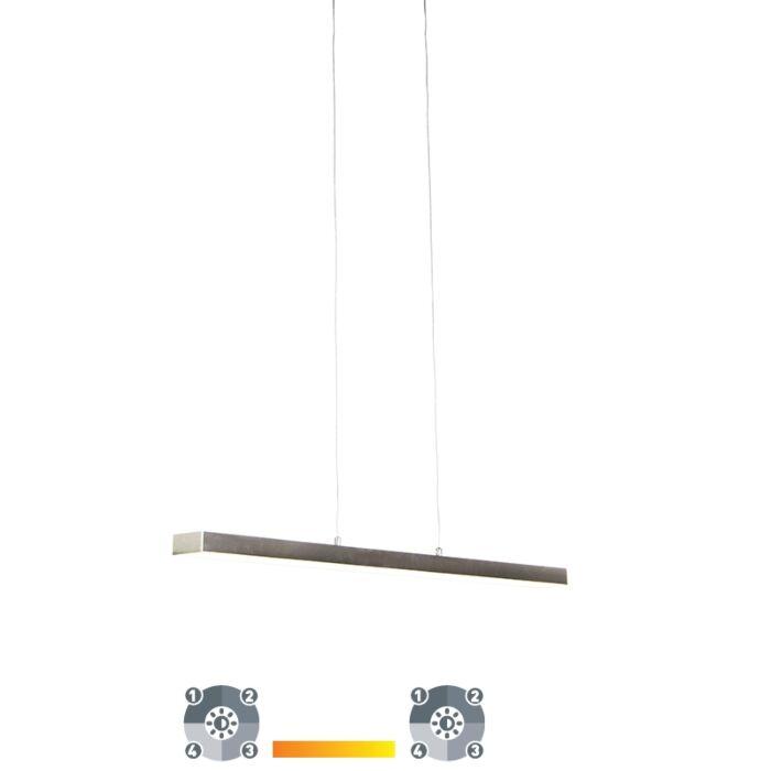Lámpara-colgante-acero-regulable-4-estados-táctil-LED---OGANDA