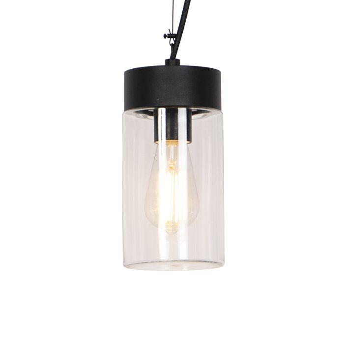 Lámpara-colgante-moderna-negra-IP44---JARRA
