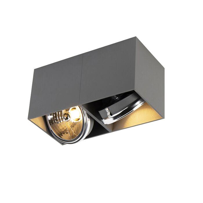 Foco-diseño-rectangular-gris-2-luces---BOX