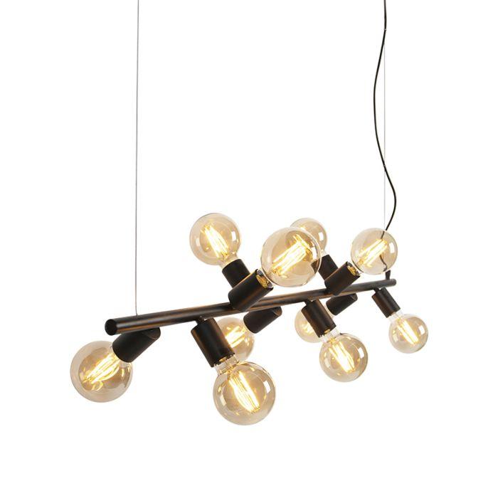Lámpara-colgante-nórdica-negra-10-luces---FACIL-Tube