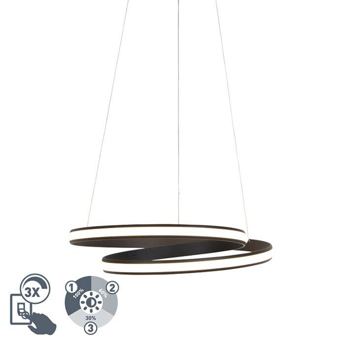 Lámpara-colgante-diseño-negro-55cm-LED-regulable-3-pasos---ROWAN