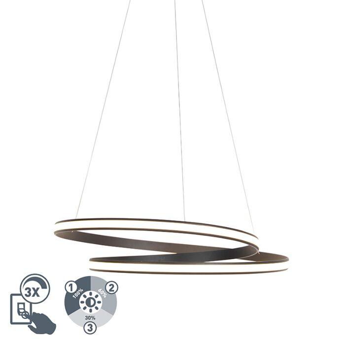 Lámpara-colgante-moderna-negra-74cm-LED-regulable-3-pasos---ROWAN