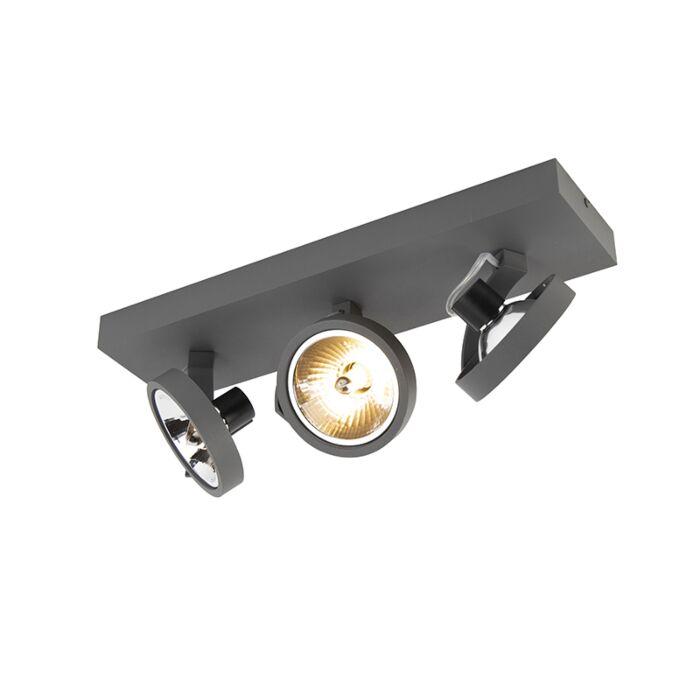 Plafón-gris-3-luces-LED---GO