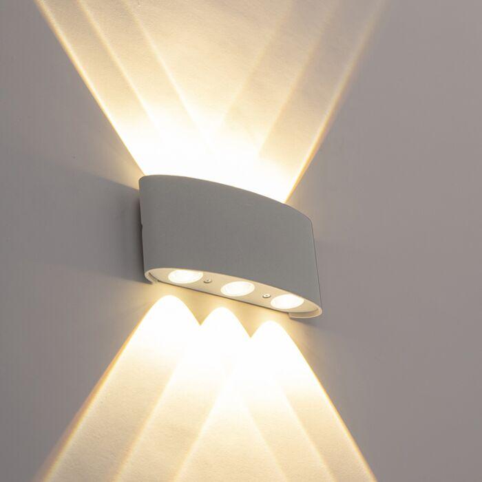 Aplique-diseño-plateado-LED-6-luces-IP54---SILLY