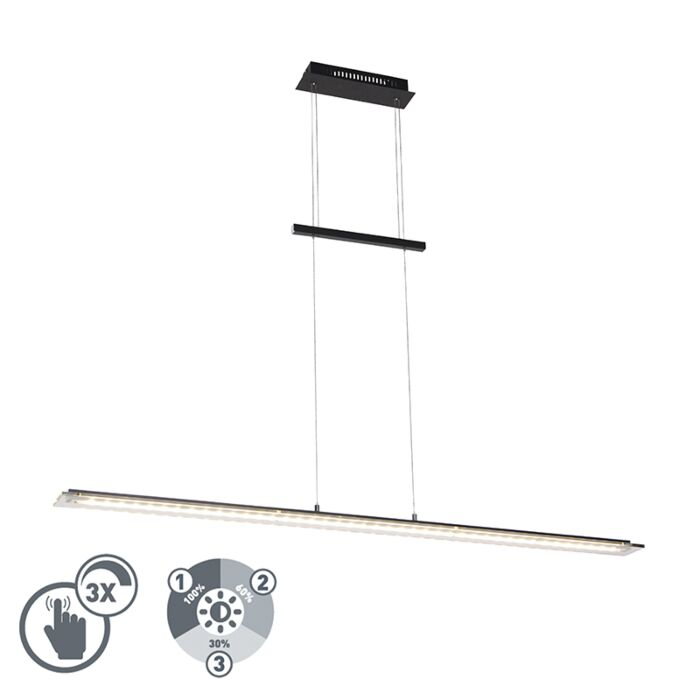 Lámpara-colgante-diseño-negra-135cm-regulable-3-pasos-LED---CAVOLO