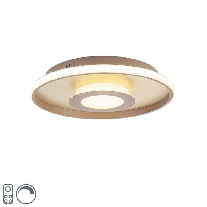Plafón-dorado-44cm-LED-mando-a-distancia---OCULUS