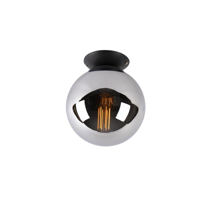 Plafón-art-deco-negro-cristal-ahumado---PALLON