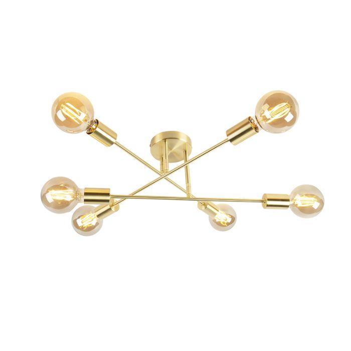 Plafón-industrial-dorado-6-luces---SYDNEY-BONDI