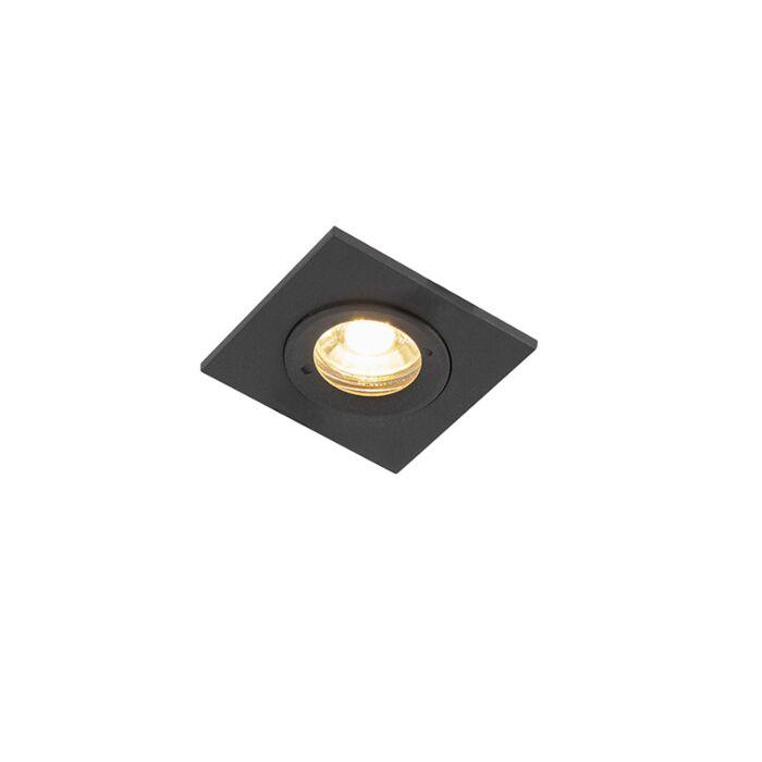 Foco-empotrable-moderno-negro-IP44---XENA-Square