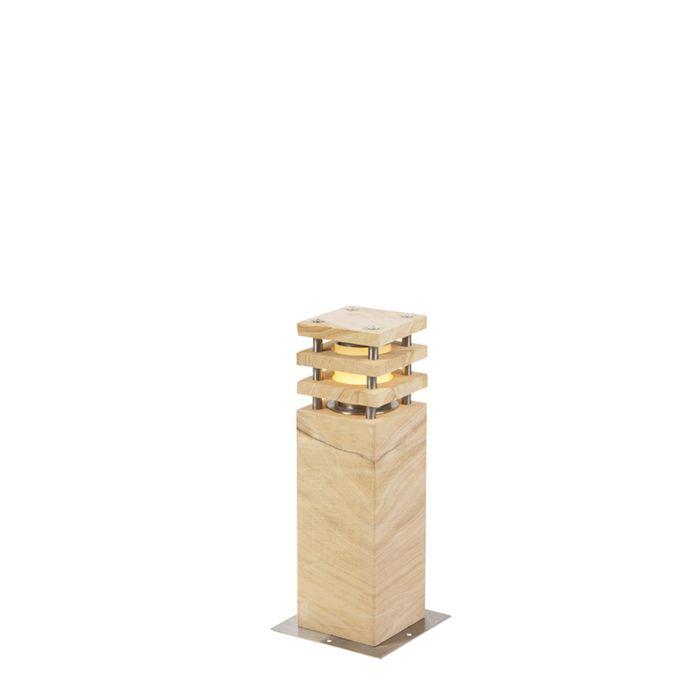 Baliza-moderna-beige-40cm-IP55---GRUMPY