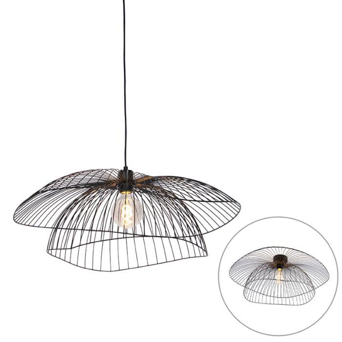Lámpara-colgante-diseño-negra-66cm---PUA