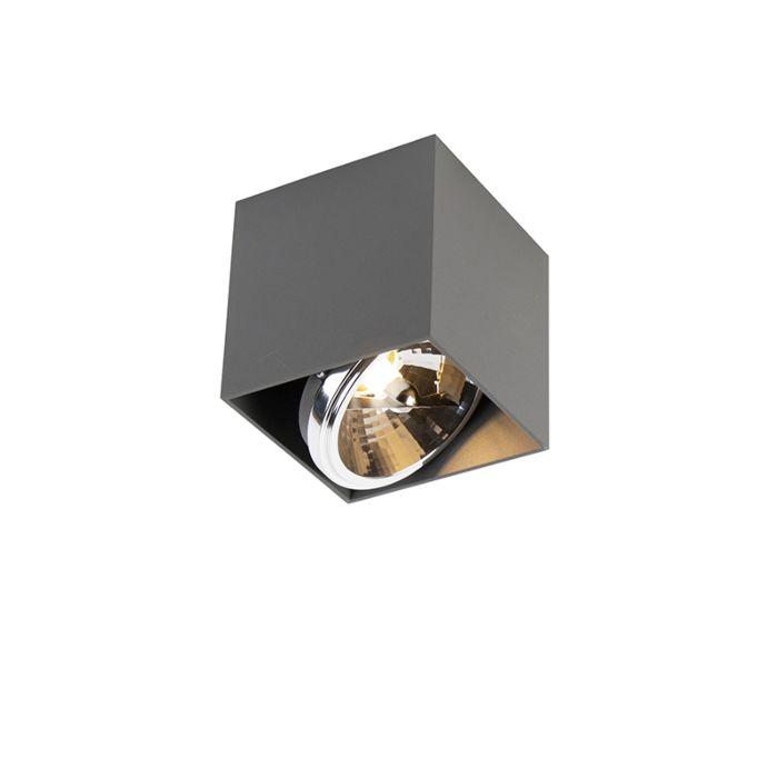 Foco-diseño-cuadrado-gris-claro-1-luz---BOX