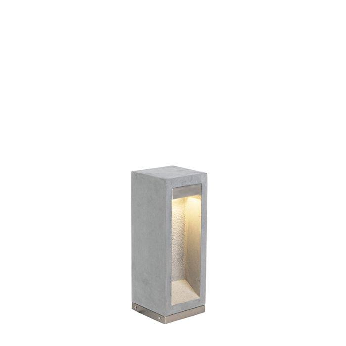 Baliza-moderna-gris-40cm-IP55--SNEEZY