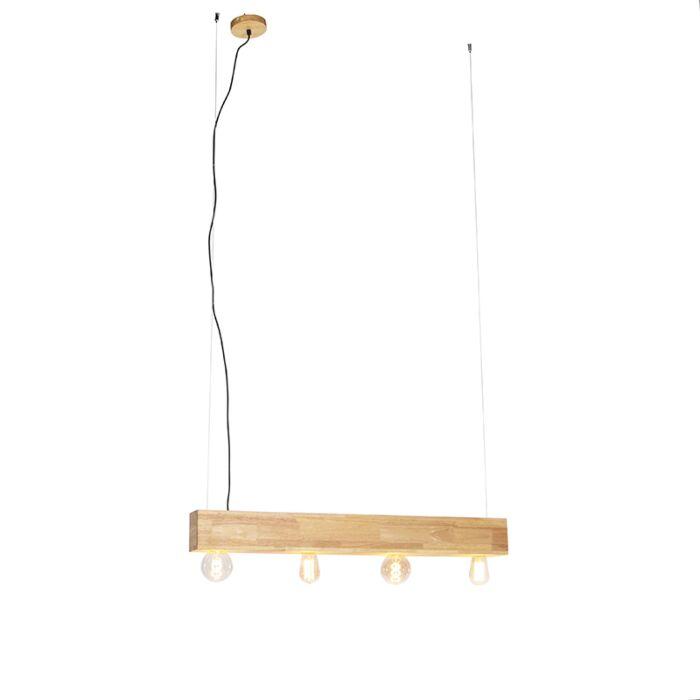 Lámpara-colgante-rústica-madera-4-luces---SEMA