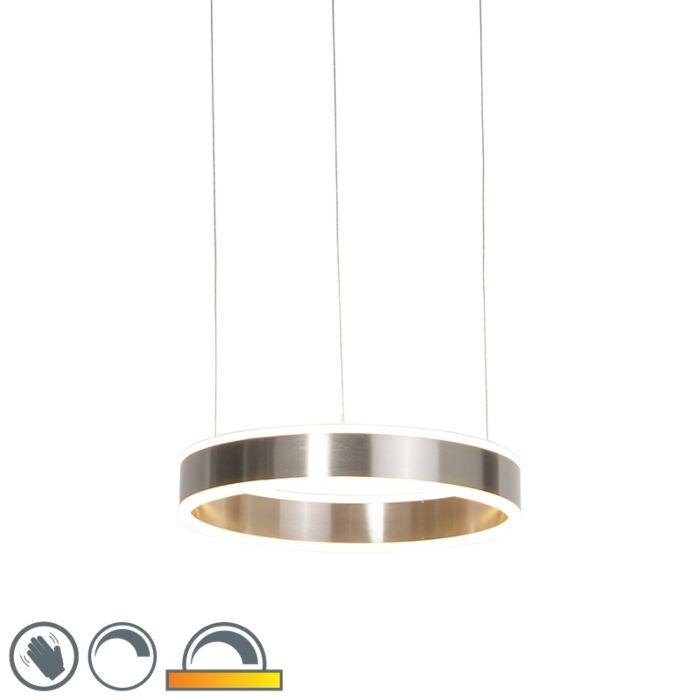 Lámpara-colgante-moderna-de-acero-con-LED-de-40-cm-de-tenue-a-cálido---OLLIE