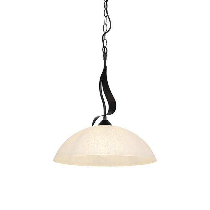 Lámpara-colgante-clásica-marrón-cristal-translúcido---UNIK