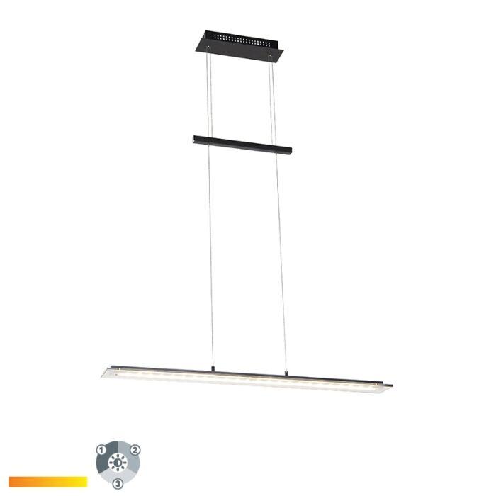 Lámpara-colgante-diseño-negra-88cm-regulable-3-pasos-LED---CAVOLO