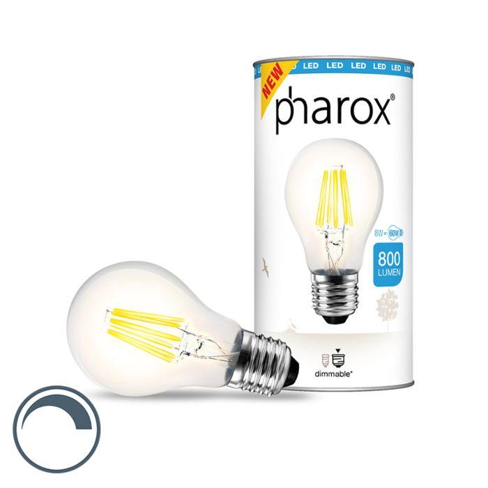 Bombilla-PHAROX-LED-transparente-E27-8W-800LM