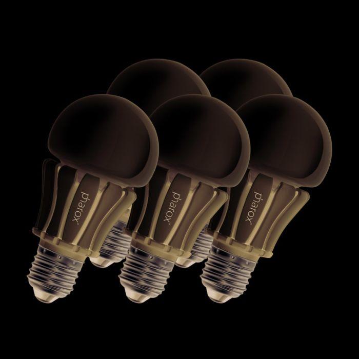 Set-de-5-bombillas-Pharox-LED-lamp-400-E27-8W-230V