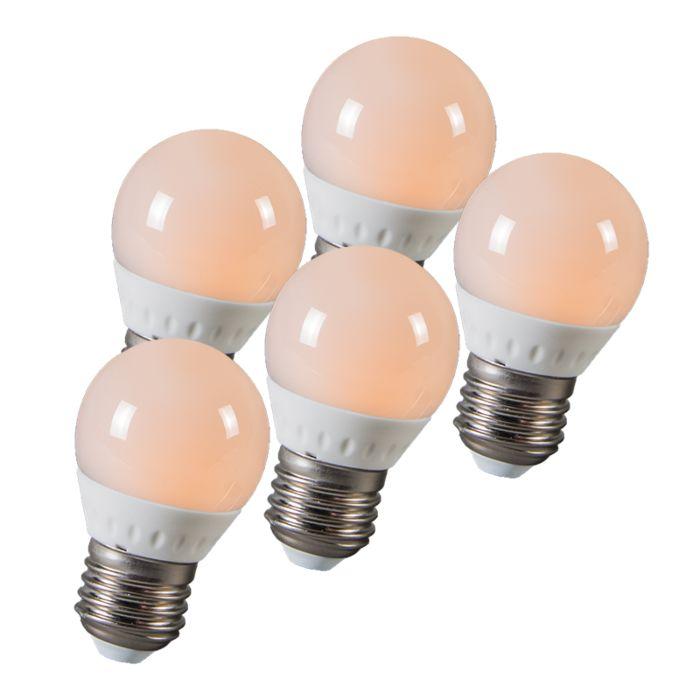 Set-de-5-bombillas-LED-E14-3W-250-lúmenes-(25W)