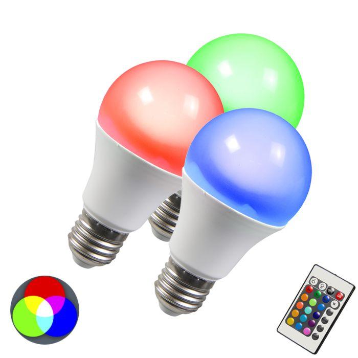 Set-de-3-bombillas-LED-RGB-E27-10W-blanco-cálido