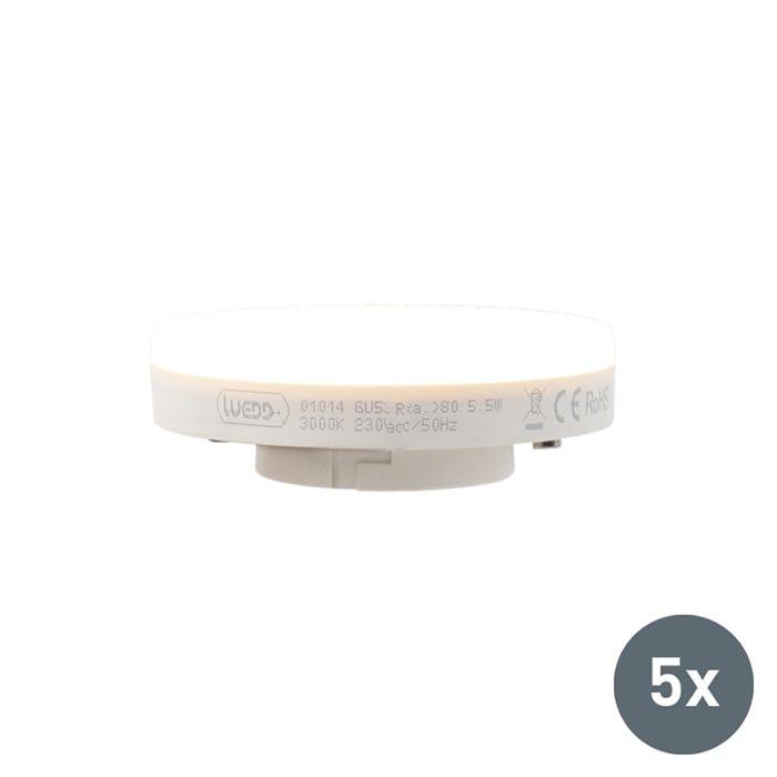 Set-de-5-bombillas-LED-GX53-5.5W-470-lumen-3000K