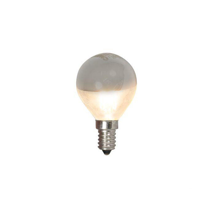 Bombilla-E14-LED-bola-cúpula-espejo-4W-370lm-2700-K