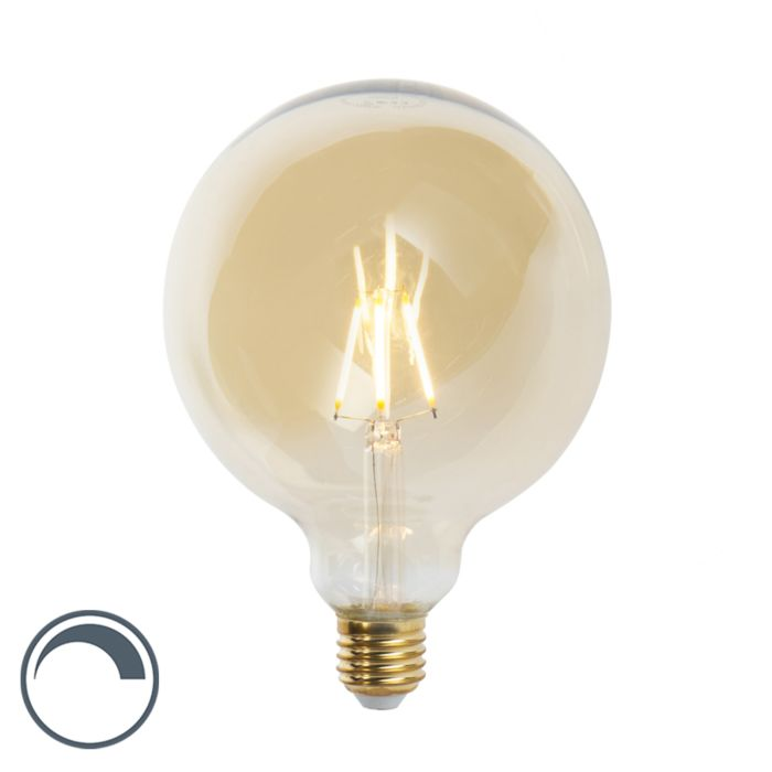 Lámpara-de-filamento-LED-regulable-Goldline-de-12,5-cm-E27-5W-360-lúmenes-2200K