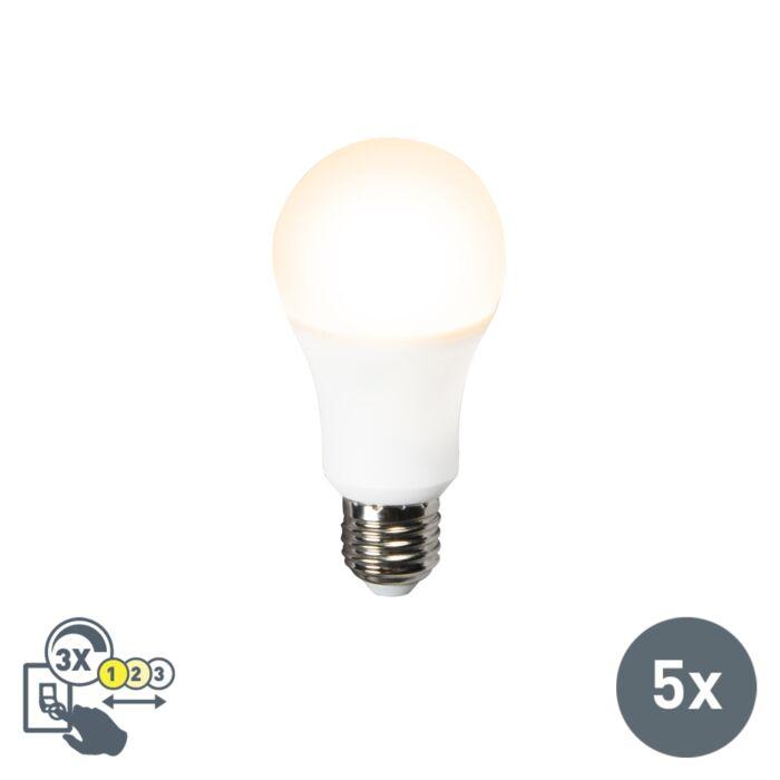 Set-de-5-bombillas-LED-A60-12W-E27-3en1