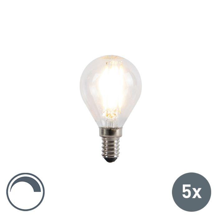 Set-5-bombillas-filamento-LED-regulables-E14-5W-470lm-2700K