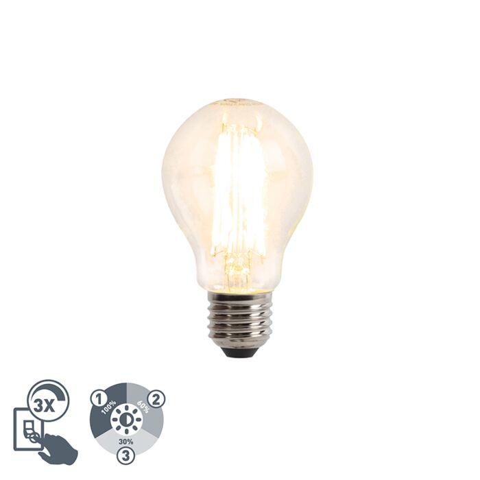 Bombilla-LED-E27-A60-6W-2700k-cristal-transparente-regulable-3-estados