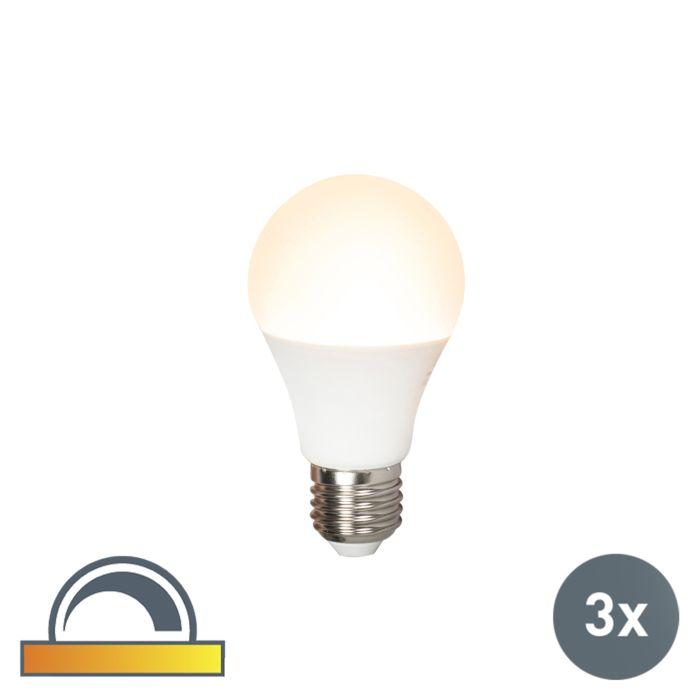 Conjunto-de-3-lámparas-LED-regulables-E27-A60-7W-510lm-2000K---2700K