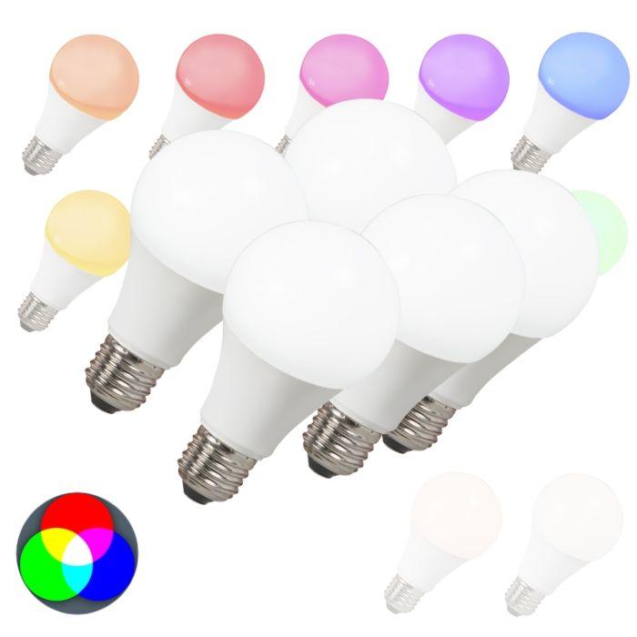 Set-de-5-bombillas-LED-E27-240V-7W-500lm-A60-Smart-Light
