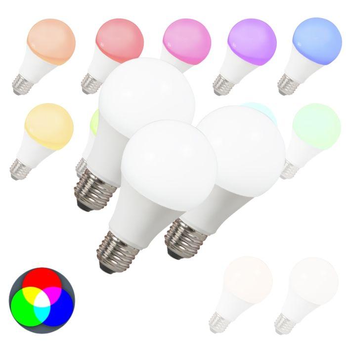 Set-de-3-bombillas-LED-E27-240V-7W-500lm-A60-Smart-Light