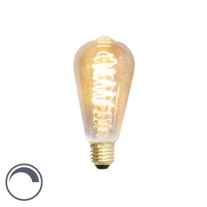 Bombilla-LED-filamento-regulable-E27-ST64-4W-200lm-2100K