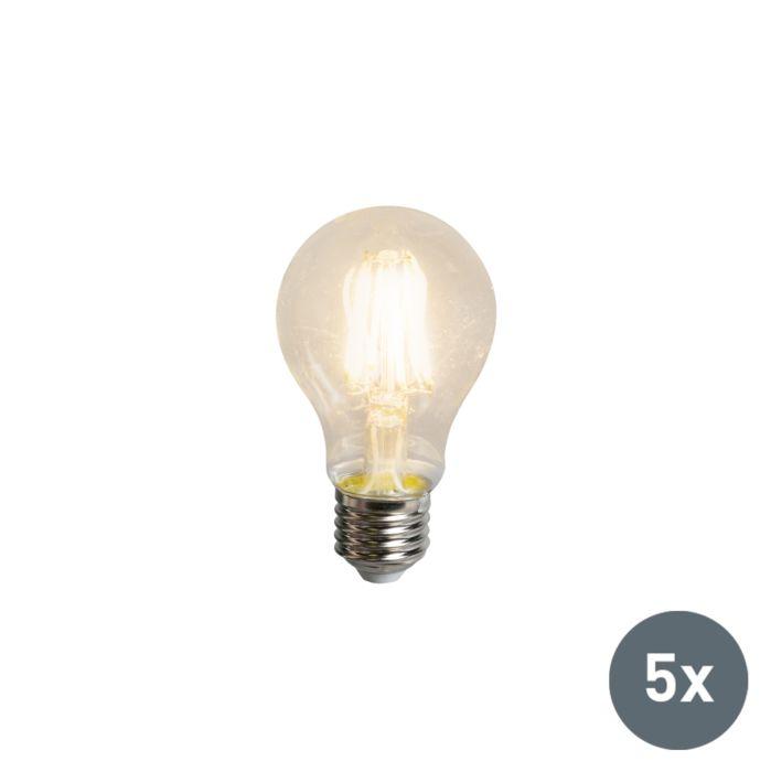 Set-de-5-bombillas-LED-filamento-A60-E27-5,5W-600-lúmenes